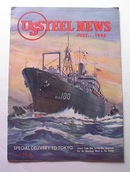 US STEEL NEWS,7/1945,NAVY SHIP TO TOKYO