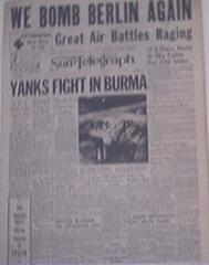 Pittsburgh Sun-Telegraph,1944,We Bomb Berlin Again