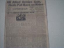 RARE  PGH Sun-Telegraph Servicemen's Edition,1944