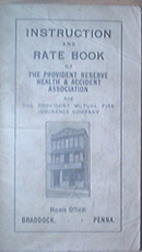 Provident Mutual Fire Insurance Co., Rate Book, 1923