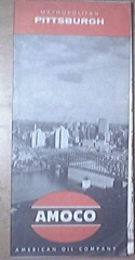 c1960 AMOCO Metropolitan Pittsburgh Map