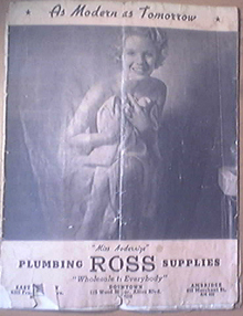 Plumbing ROSS Supplies April,1937 Catalog No.213