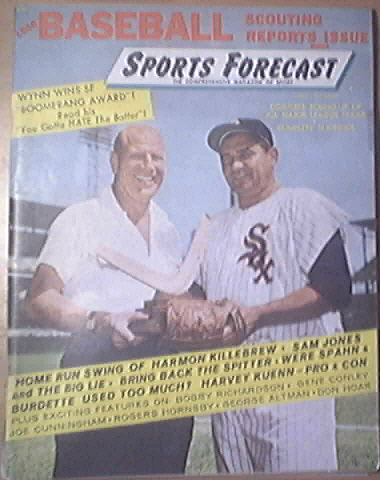 Sports Forecast Magazine, 5/1960, Early Wynn Cover