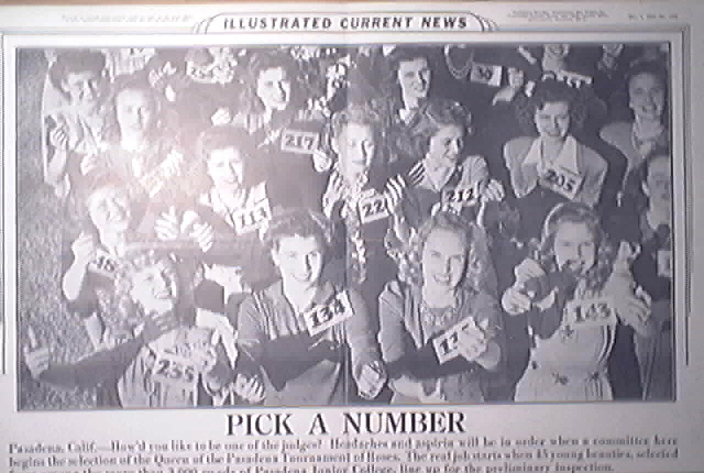 Illustrated Current News 12/1/1943 Queen of Pasadena