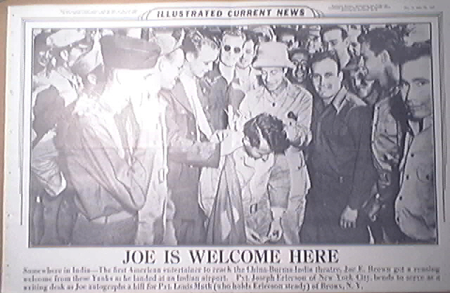 Illustrated Current News 12/17/1943 Joe E. Brown