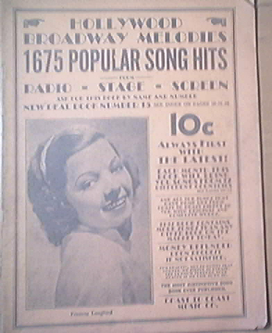 Hollywood Broadway Melodies, Frances Langford, c1940