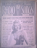 c1940 Radio Hit Songs Vol.2-No.3 Fay Thompson cover