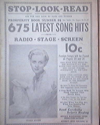 c1940 Stop - Look - Read No.9 Gloria Stuart cover