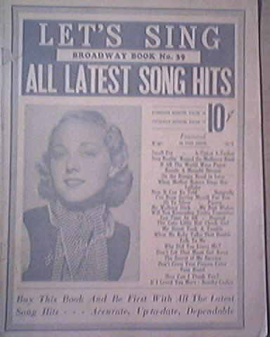 Let's Sing Broadway Book No.39 Lula Hyrms cover