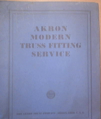 c1930 Akron Modern Truss Fitting Service