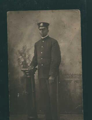 Photo Postcard of Uniformed Man from 1900s