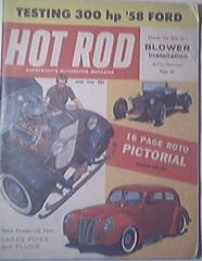 HOT ROD Magazine 4/1958 Competition Blower Kit