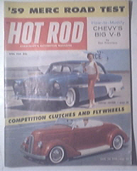 HOT ROD Magazine 4/1959 Modifying Chevy's Big V8