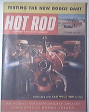 HOT ROD Magazine 11/1959 CHYSLER RAM INJECTION