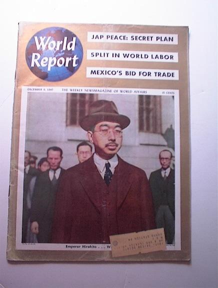 World Report,12/9/1947,Emperor HIROHITO cover