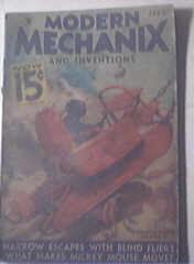 Modern Mechanics and Inventions 4/1934 Mickey Mouse