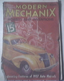 Modern Mechanics 12/1936 Engineering 1937 Auto Marvels