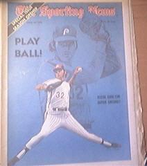 The Sporting News 4/14/1973 Steve Carlton Cover