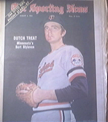 The Sporting News 8/4/1973 Bert Blyleven Cover