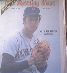 The Sporting News 10/27/1973  Jon Matlack Cover