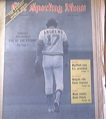 The Sporting News 11/3/1973 Oakland's Mike Andrews