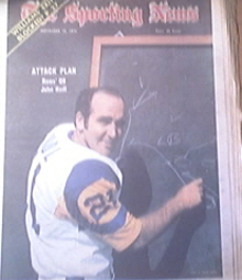The Sporting News 11/10/1973  Rams' QB John Hadl Cover