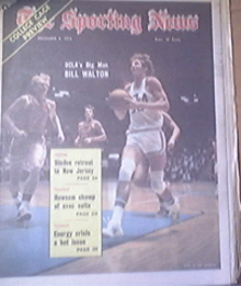 The Sporting News 12/8/1973 UCLA's Bill Walton Cover