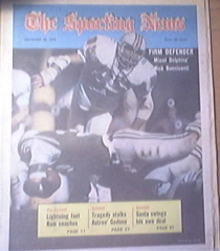 The Sporting News 12/29/1973 Dolphins Nick Buoniconti