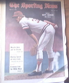 The Sporting News 5/27/1972 Indians' Milt Wilcox Cover