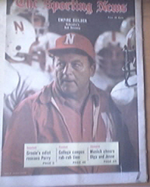 The Sporting News 9/9/1972 Nebraska's Bob Devaney Cover