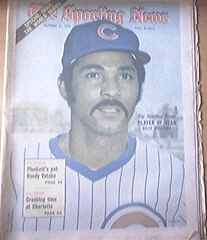 The Sporting News 10/21/1972 Billy Williams cover