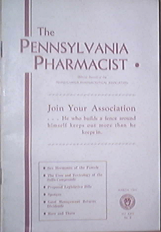 The Pennsylvania Pharmacist, 3/1941, Sex Hormones