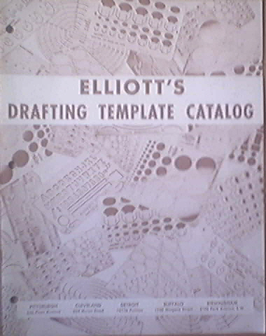 ELLIOTT'S Drafting Template Catalog, c1960