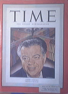Time Magazine, 8/29/1949, Labor's David Dubinsky cover
