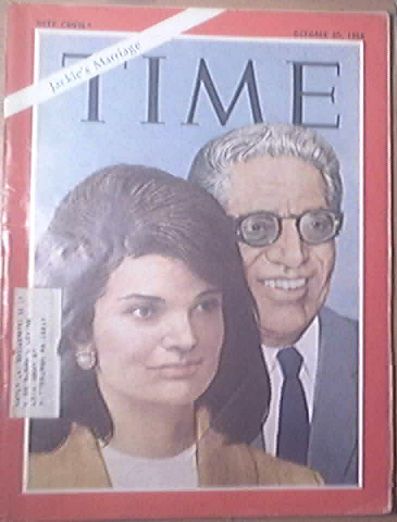 Time Magazine, 10/25/1968, Jackie Kennedy's Marriage