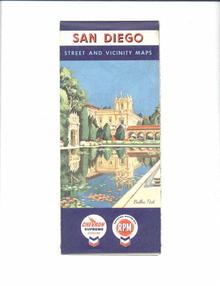 Standard Oil/Chevron San Diego Map, 1958