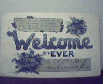 Welcome Ever Victorian Era Color Raised Image Card!