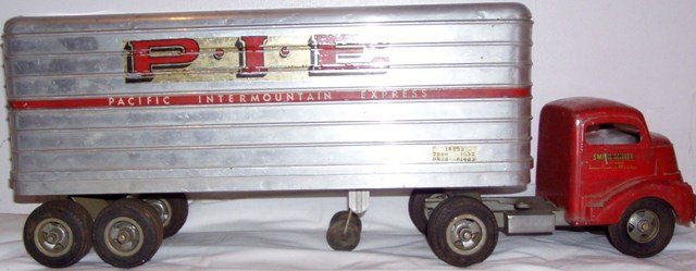 Smith Miller Truck and PIE Trailer Vintage Toy