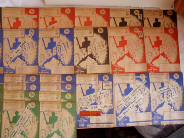 Charleston Rebels Baseball Score Cards Ticket Stubs 1941