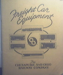 CHESAPEAKE & OHIO RAILWAY CO. 1937 Freight Car Catalog Railroad