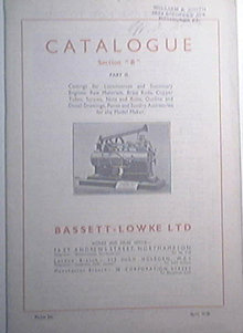 Bassett - Lowke Catalogue