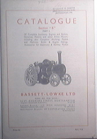Bassett - Lowke LTD Catalogue