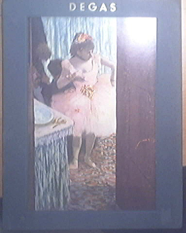 Edgar Degas 6 Beautiful Color Prints and Biography 1950 Art