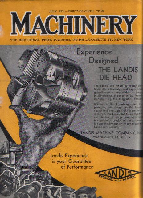 MACHINERY July 1931 Tungsten Carbide, Welding Allegheny