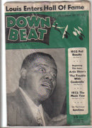 Down Beat Magazine 1952 SATCHMO, Louis Armstrong