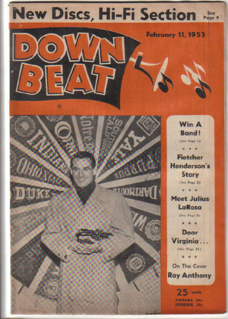Down Beat Magazine 1953 Fletcher Henderson, Ray Anthony