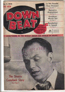 Down Beat Magazine 1954 Frank Sinatra ,James P. Johnson