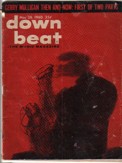 Down Beat Magazine 1960 Gerry Mulligan ,Billie Holiday