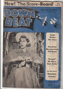 Down Beat Magazine 2/25/53 Rosemary Clooney, Zutty Singleton