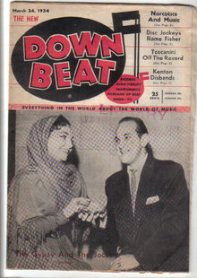Down Beat Magazine 3/24/1954 Narcotics And Music Dizzy Gillespie, Stan Getz